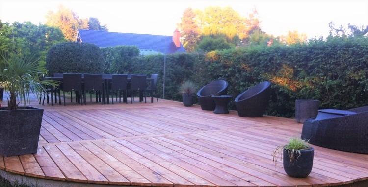 Terrasse en Mélèze